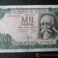 Billetes españoles: BILLETE ESPAÑA-1000 PESETAS-17 SEPTIEMBRE 1971-SERIE Q4788645-.. Lote 35855910