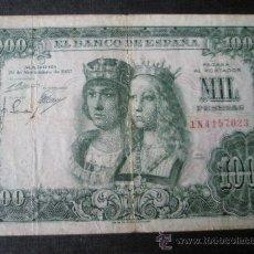 Billetes españoles: BILLETE DE ESPAÑA-1000 PESETAS-29 NOVIEMBRE 1957-S/1N4157023-REYES CATÓLICOS-.. Lote 36174121