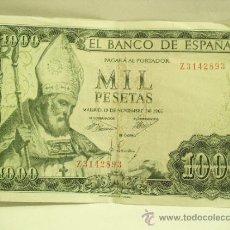 Billetes españoles: BILLETE DE MIL PESETAS,AÑO 1965, SERIE Z3142893.. Lote 35900539