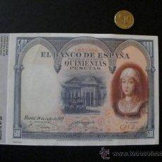 Billetes españoles: BILLETE FACSIMIL ESPAÑA BILLETE 500 PESETAS JULIO 1927 - QUINIENTAS PESETAS JULIO 1927. Lote 35990111