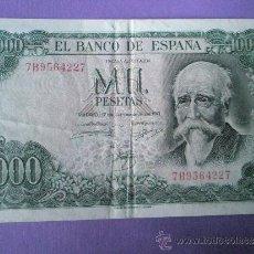 Billetes españoles: BILLETE DE ESPAÑA-1000 PESETAS-17 SEPTIEMBRE 1971-SERIE 7B9564227-.. Lote 36186944