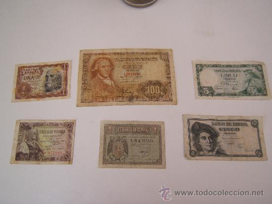LOTE BILLETES FRANCO (Numismática - Notafilia - Billetes Españoles)