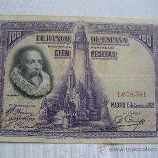 Billetes españoles: BILLETE 100 PESETAS 1928. Lote 36612625