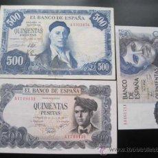 Billetes españoles: 500 PESETAS SERIE A 1954 / 1971 / 1979. Lote 36982771