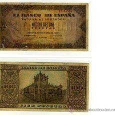 Billetes españoles: BILLETE DE 100 PESETAS 1938. Lote 37159942