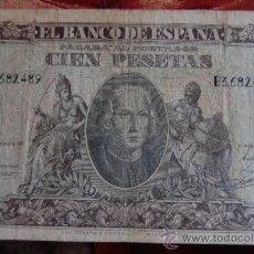 Billetes españoles: BILLETE DE 100 CIEN PESETAS 1940 SERIE B - CRISTOBAL COLON. Lote 37651123