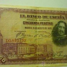 Billetes españoles: BLLETE BANCO DE ESPAÑA- 15-8-1928. Lote 37810588