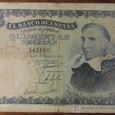 Billetes españoles: 500 PESETAS 1946 - FRANCISCO DE VITORIA SIN SERIE. Lote 38367570