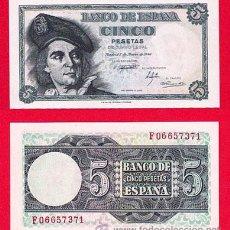 Billetes españoles: 5 PESETAS, 1948, EL CANO, PLANCHA. Lote 38374435