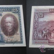 Billetes españoles: 25 PESETAS 1928 BANCO DE ESPAÑA. CALDERON DE LA BARCA. DOMINGO MUÑOZ.. Lote 38389492