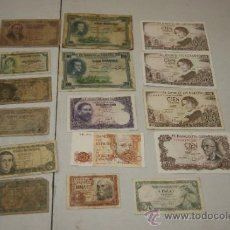 Billetes españoles: LOTE DE BILLETES ESPAÑOLES ANTIGUOS. Lote 209326390