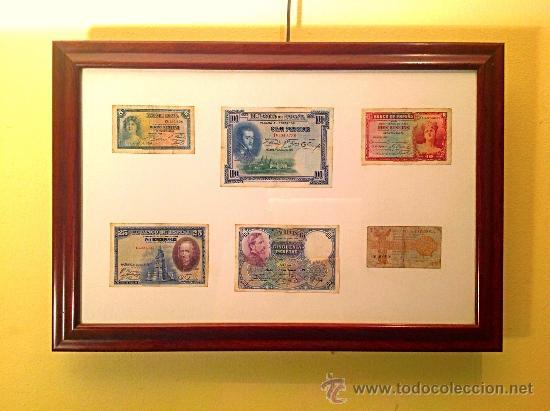 Cuadro de billetes antiguos del banco de espa a comprar - Cuadros online espana ...