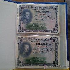 Billetes españoles: 10 BILLETES BANCO DE ESPAÑA: 3 DE 100PTS , 2 DE 50 PTS., 3 DE 10 PTS., 2 DE 5 PTS.. Lote 38783965
