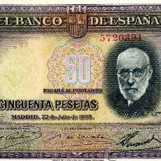 Billetes españoles: BILLETE DE 50 PESETAS 1935. . Lote 39250399