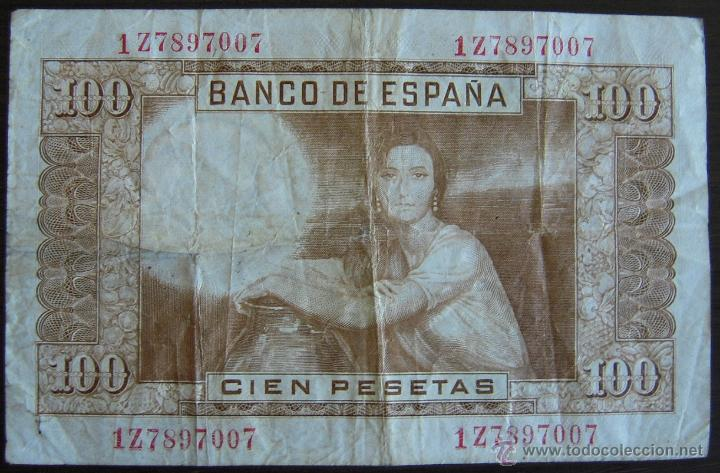Billetes españoles: BILLETE DE 100 PESETAS DE 1953 EN MBC - Foto 2 - 39387199