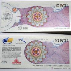 Billetes españoles: 10 ECU- EXPO 92 . SEVILLA. Lote 199451952