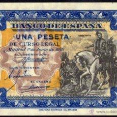 Billetes españoles: BILLETE ESPAÑA - 1 PESETA - MADRID 1º. DE JUNIO DE 1940 - HERNAN CORTES - SERIE: C. Lote 39902507