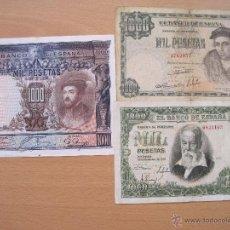 Billetes españoles: 1000 PESETAS SIN SERIE 1925 / 1946 Y 1951. Lote 36982662