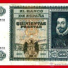 Billetes españoles: BILLETE 500 PESETAS ENERO 1940 , MBC , SERIE A , ORIGINAL, T838. Lote 40002780