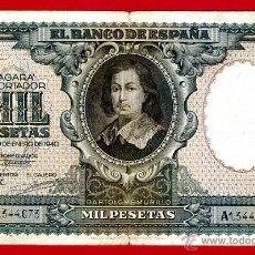 Billetes españoles: BILLETE 1000 PESETAS ENERO 1940 , MBC , SERIE A , ORIGINAL, T073. Lote 40002919
