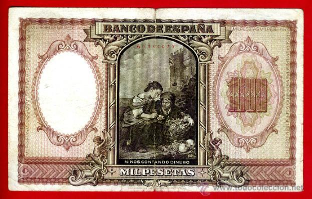 Billetes españoles: BILLETE 1000 PESETAS ENERO 1940 , MBC , SERIE A , ORIGINAL, T073 - Foto 2 - 40002919