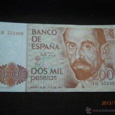 Billetes españoles: BILLETE 2000 PTAS JUAN RAMON JIMENEZ PLANCHA. Lote 40151965
