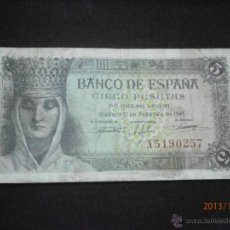 Billetes españoles: BILLETE DE 5 PTAS. 1943. Lote 40152291