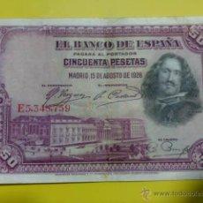 Billetes españoles: BILLETE 50 PESETAS 1928. Lote 40277919