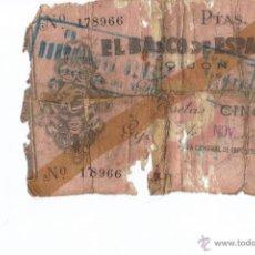 Billetes españoles: BILLETE ESPAÑA 5 PESETAS 1936 GIJON. Lote 37534165