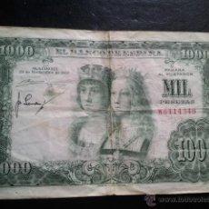 Billetes españoles: BILLETE 1000 PESETAS 1957 REYES CATOLICOS. Lote 40437817