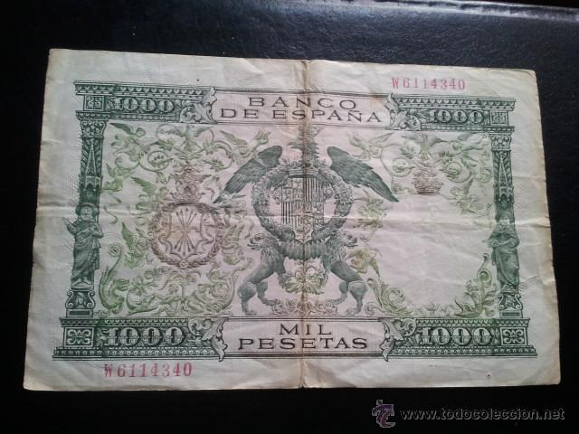 Billetes españoles: BILLETE 1000 PESETAS 1957 REYES CATOLICOS - Foto 2 - 40437817