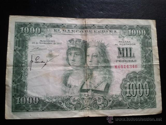 Billetes españoles: BILLETE 1000 PESETAS 1957 REYES CATOLICOS - Foto 4 - 40437817