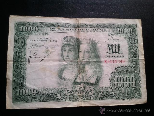 Billetes españoles: BILLETE 1000 PESETAS 1957 REYES CATOLICOS - Foto 5 - 40437817