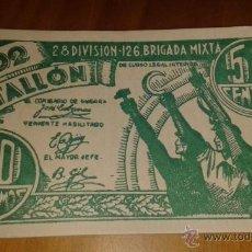 Billetes españoles: BILLETE DE 50 CTS, 502 BATALLÓN. Lote 40669846
