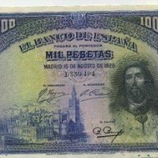 Billetes españoles: BILLETE 1000 PESETAS 15 AGOSTO 1928. Lote 40739066
