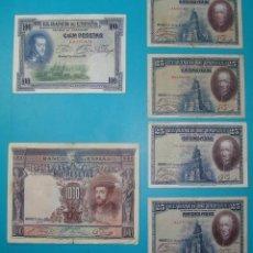 Billetes españoles: LOTE DE 36 BILLETES DE PESETAS ESPAÑA DESDE 1925 HASTA 1965. Lote 41253794