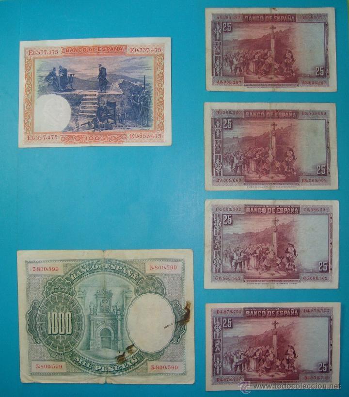 Billetes españoles: LOTE DE 36 BILLETES DE PESETAS ESPAÑA DESDE 1925 HASTA 1965 - Foto 2 - 41253794