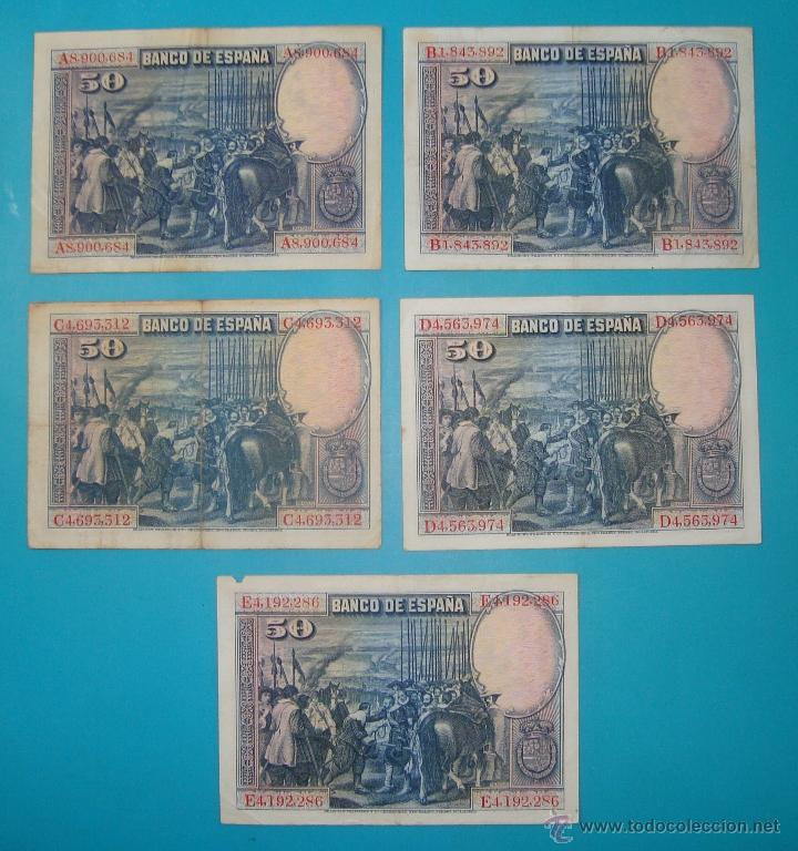 Billetes españoles: LOTE DE 36 BILLETES DE PESETAS ESPAÑA DESDE 1925 HASTA 1965 - Foto 4 - 41253794