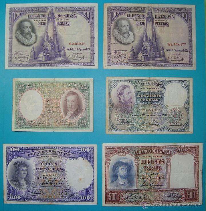 Billetes españoles: LOTE DE 36 BILLETES DE PESETAS ESPAÑA DESDE 1925 HASTA 1965 - Foto 5 - 41253794