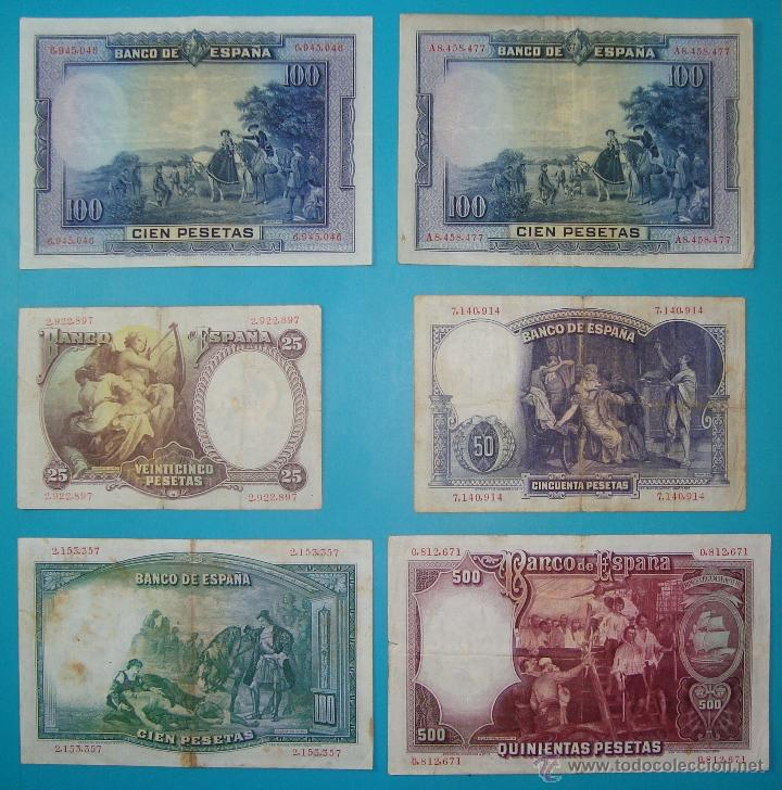Billetes españoles: LOTE DE 36 BILLETES DE PESETAS ESPAÑA DESDE 1925 HASTA 1965 - Foto 6 - 41253794