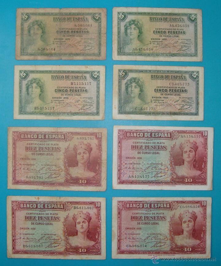 Billetes españoles: LOTE DE 36 BILLETES DE PESETAS ESPAÑA DESDE 1925 HASTA 1965 - Foto 7 - 41253794