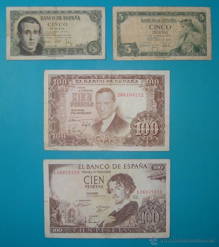 Billetes españoles: LOTE DE 36 BILLETES DE PESETAS ESPAÑA DESDE 1925 HASTA 1965 - Foto 11 - 41253794