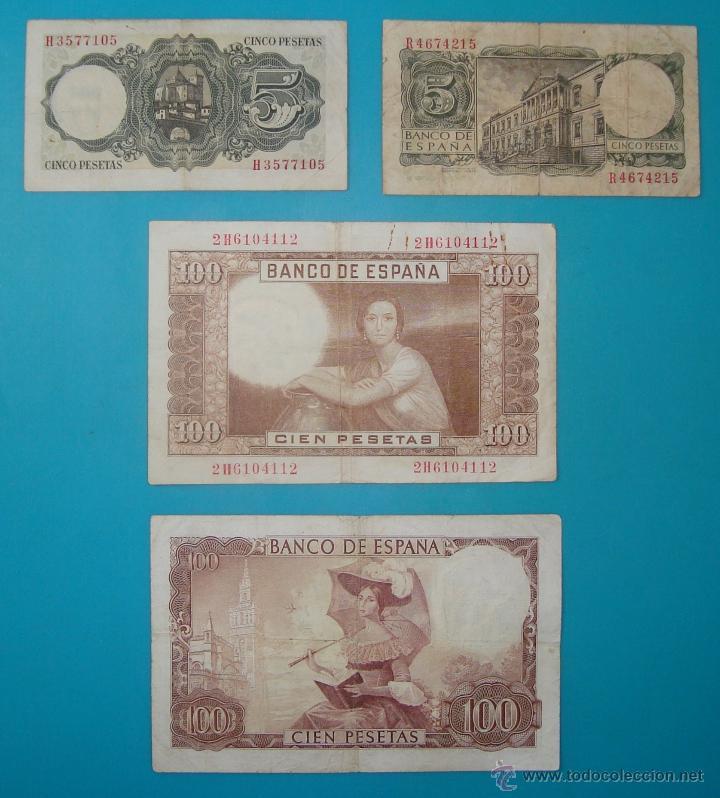 Billetes españoles: LOTE DE 36 BILLETES DE PESETAS ESPAÑA DESDE 1925 HASTA 1965 - Foto 12 - 41253794