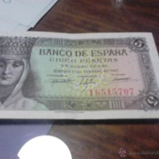 Billetes españoles: BILLETE DE 5 PESETAS DE 13 DE FEBRERO DE 1943 SIN CIRCULAR . Lote 41730650
