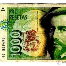 Banconote spagnole: 1000 PESETAS SERIE ESPECIAL 9C 12 DE OCTUBRE DE 1992. Lote 29424239