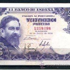 Billetes españoles: C.R 25 PTS 1954 SIN SERIE EBC-. Lote 42362424