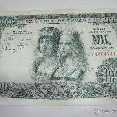 Billetes españoles: 1000 PESETAS 1957. REYES CATÓLICOS. SERIE 1V.. Lote 42508049