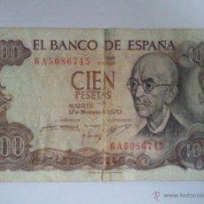 Billetes españoles: BILLETE CIEN PESETAS 1970. Lote 42578706
