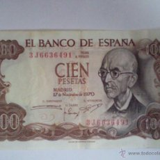Billetes españoles: BILLETE CIEN PESETAS 1970. Lote 42578755