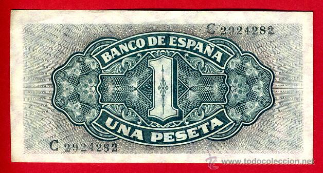 BILLETE 1 PESETA SEPTIEMBRE 1940 , BARCO , EBC , SERIE C , ORIGINAL , T282 (Numismática - Notafilia - Billetes Españoles)